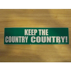 KEEP THE COUNTRY COUNTRY ステッカー
